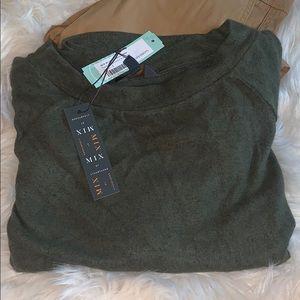 Olive green Paulsen Brushed Knit Top